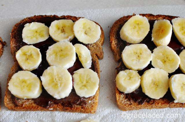 nutella and bananas