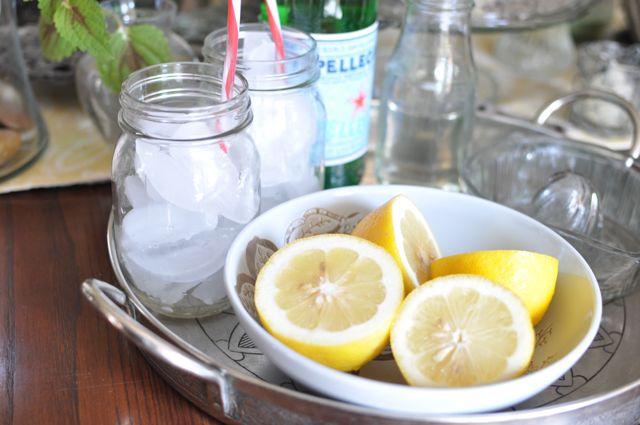 Make It Yourself Sparkling Lemonade Station