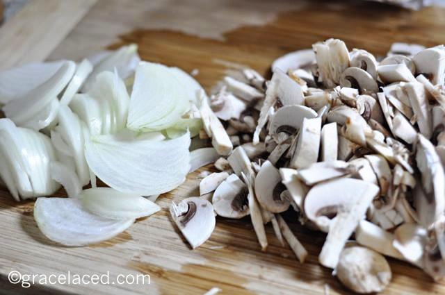 White Wine and Mushroom Soup | gracelaced.com
