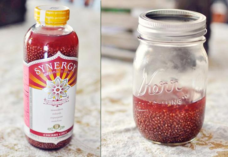 DIY Cherry Chia Kombucha